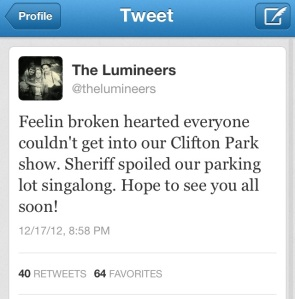 (Image Via: @thelumineers twitter account)